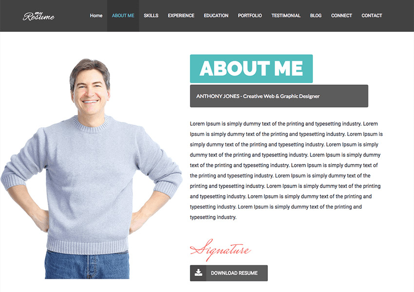 How to Make a Personal Resume Website From a WordPress Theme - resume wordpress theme