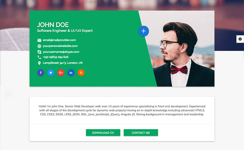 15 Best HTML Resume Templates for Awesome Personal Sites - resume website example