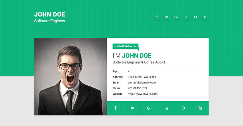 15 Best HTML Resume Templates for Awesome Personal Sites - Resume Websites Examples