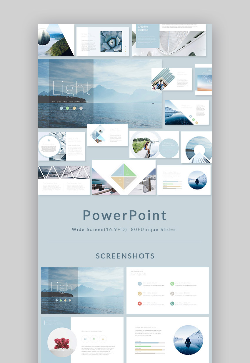 17 best powerpoint template designs for 2017 healthcare web light stylish powerpoint presentation design set fandeluxe Choice Image