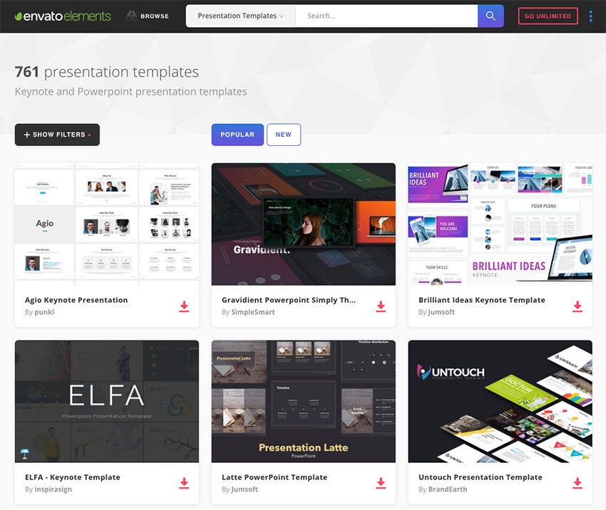 The Best New Presentation Templates of 2017 (PowerPoint  More)