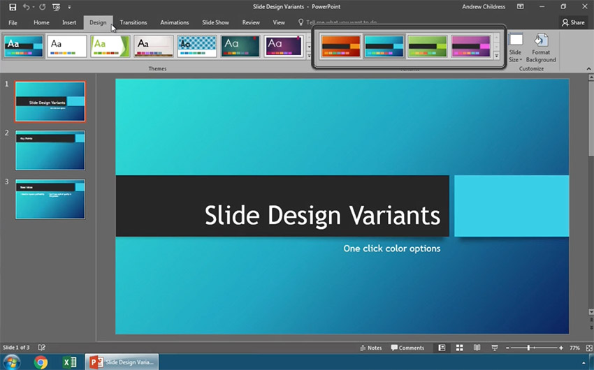 How to Modify PowerPoint Templates With Slide Design Variants