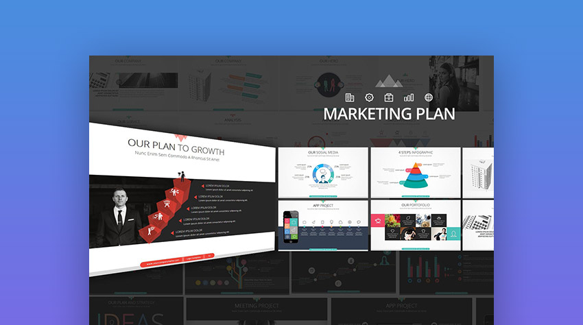 15+ Marketing PowerPoint Templates to Present Your Plans - marketing presentation