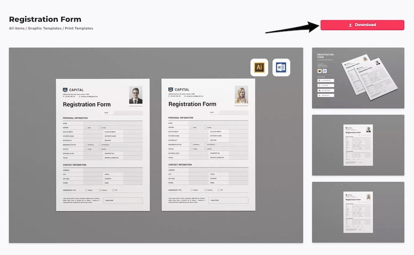 How to Customize a Registration Form Template Using Microsoft Word