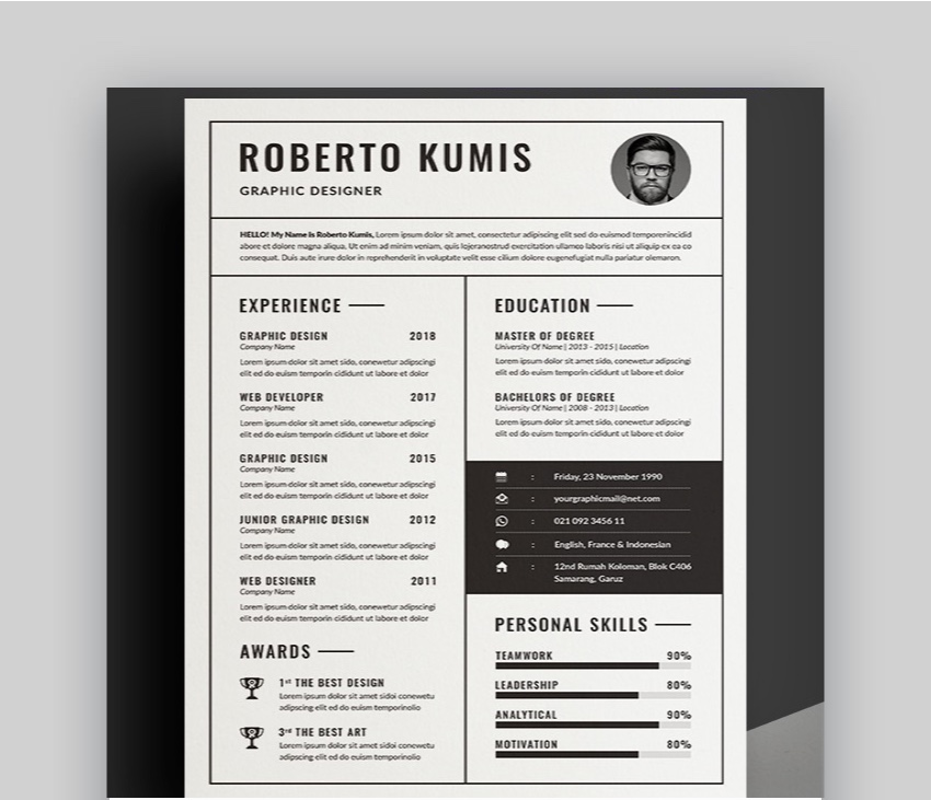 15 Free Google Docs  Microsoft Word Resume Templates (2019)