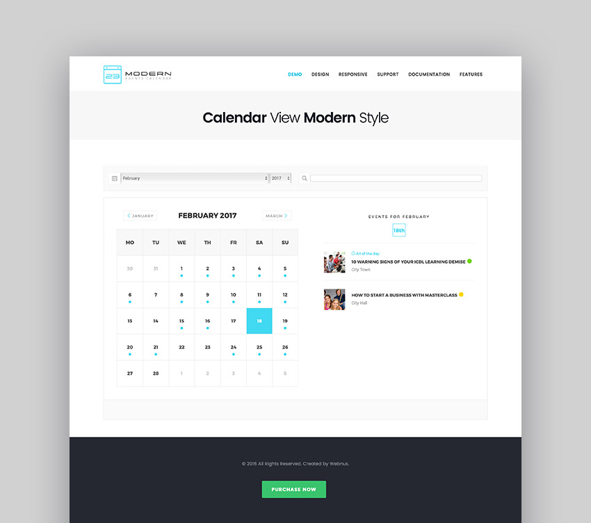 RSVP for Events With These WordPress Plugins - calendar template for website