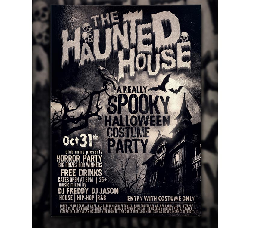 64 Awesome Halloween Invitations and Flyers for Your Spooky Celebrations