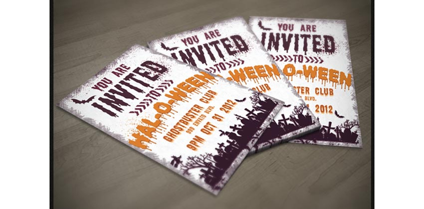 64 Awesome Halloween Invitations and Flyers for Your Spooky Celebrations - halloween invitation template