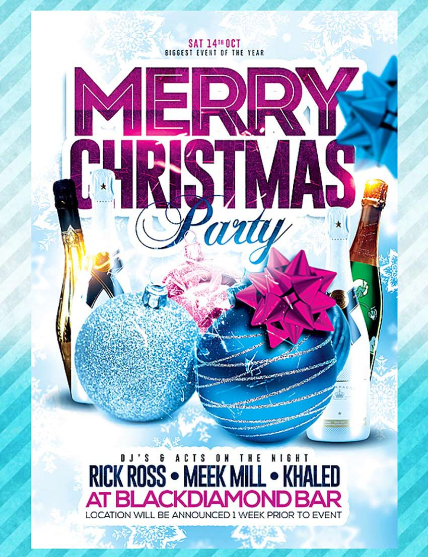 Flyer Ideas 50 Amazing Christmas And New Year S Eve Flyers For The Holiday Season