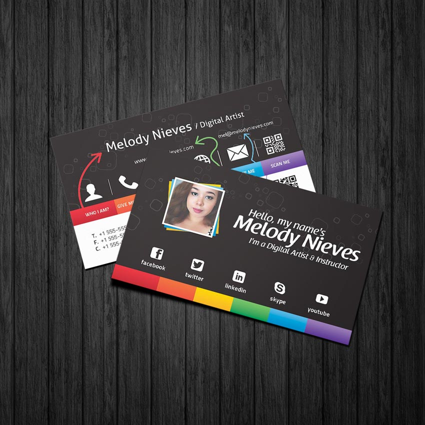 Photoshop in 60 Seconds How to Customize a Business Card Template - business card template