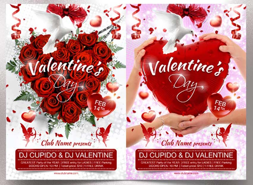 Share the Love With 49 Valentine\u0027s Day Templates, Flyers, and Cards