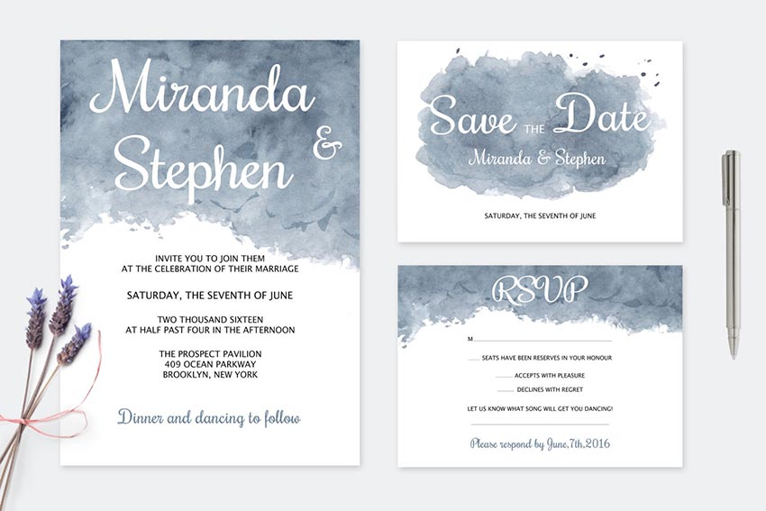 50 Stylish Wedding Invitation Templates - Invitations Templates