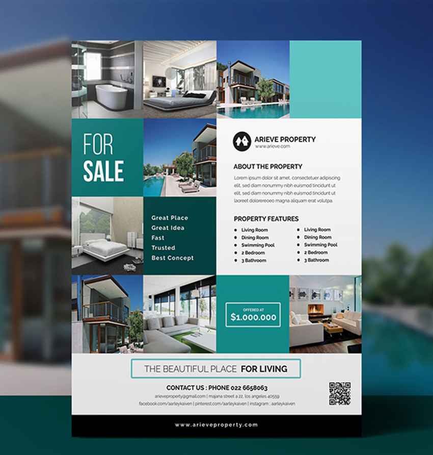 40 professional real estate flyer templates healthcare web design