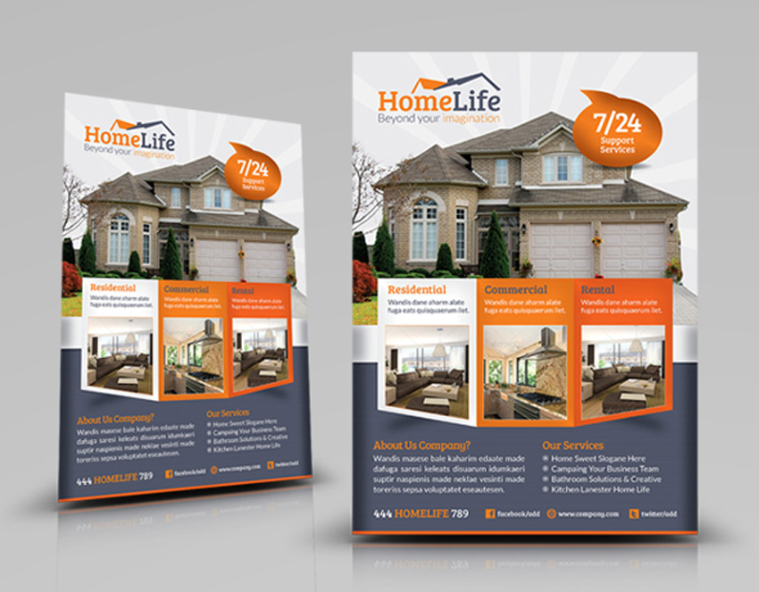 40 Professional Real Estate Flyer Templates - home sale flyer template