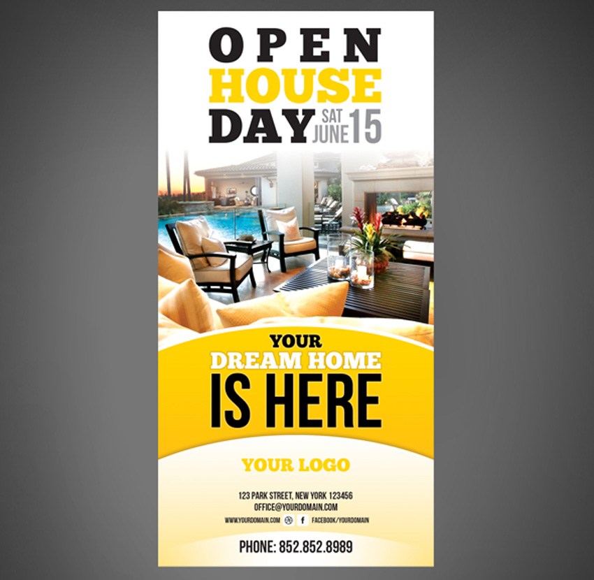 40 Professional Real Estate Flyer Templates - open house flyer