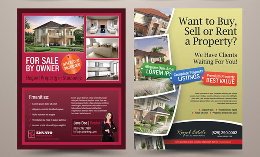 40 Professional Real Estate Flyer Templates - land for sale flyer