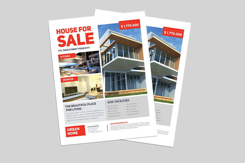 40 Professional Real Estate Flyer Templates - home for sale brochure
