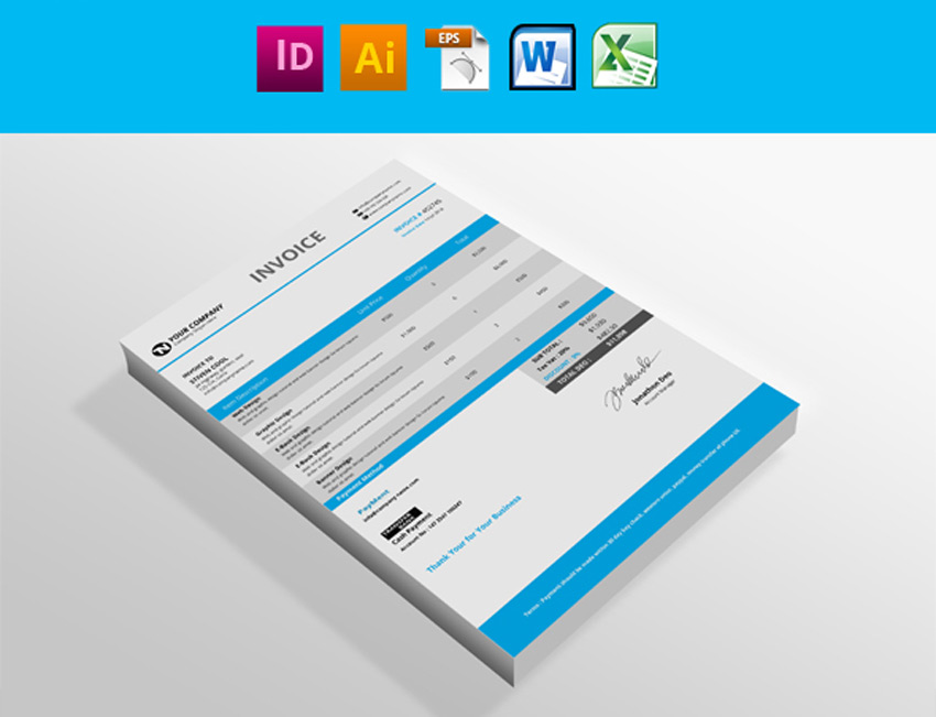 35 Invoice Templates for Corporations  Small Businesses - invoice designs