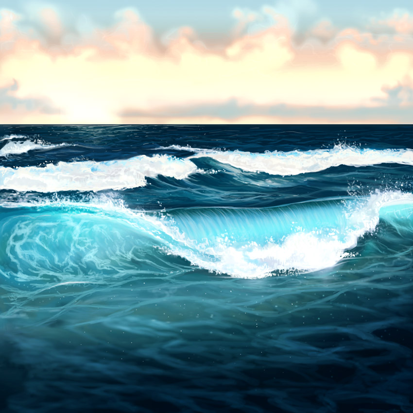 How to Paint Water, Waves, and the Ocean in Adobe Photoshop - ocean waves animations