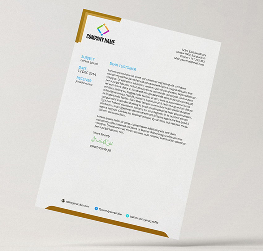 25 Professional Modern Letterhead Templates - stationery for word documents