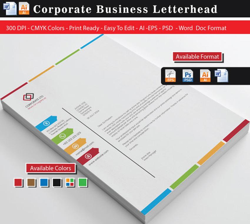 25 Professional Modern Letterhead Templates - letter headed samples