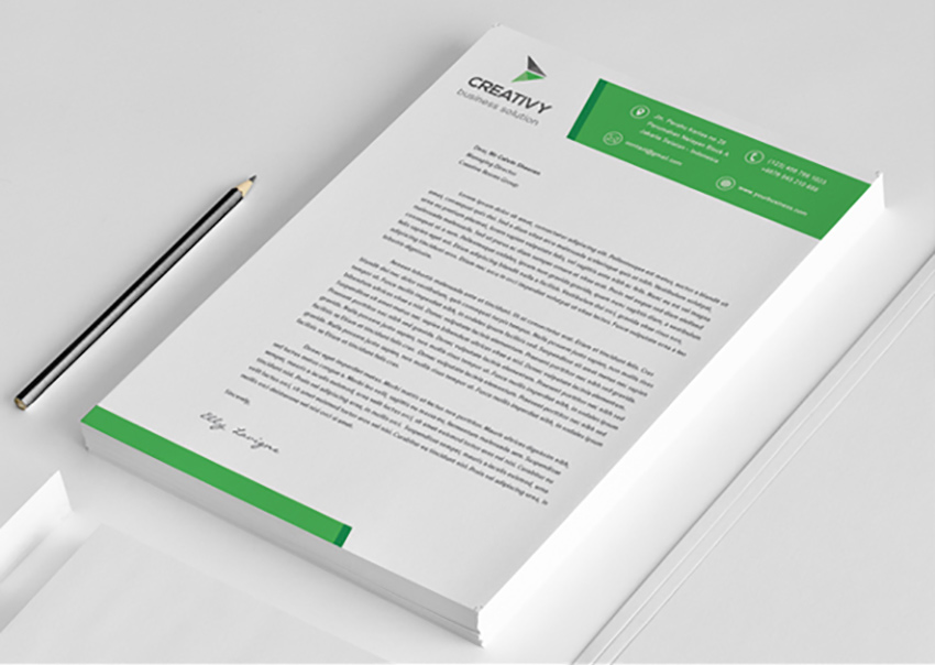 25 Professional Modern Letterhead Templates - document desing