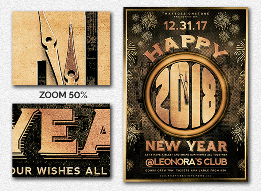 30 Best New Year\u0027s Eve Flyers and Invitations - new year poster template