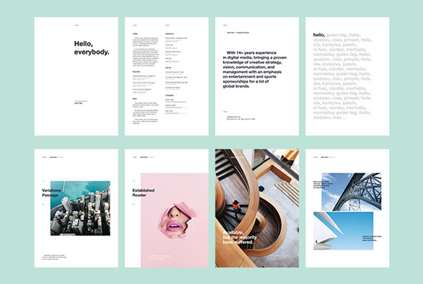 Best of 2017 Stylish, Professional CV  Resume Templates - clean resume design