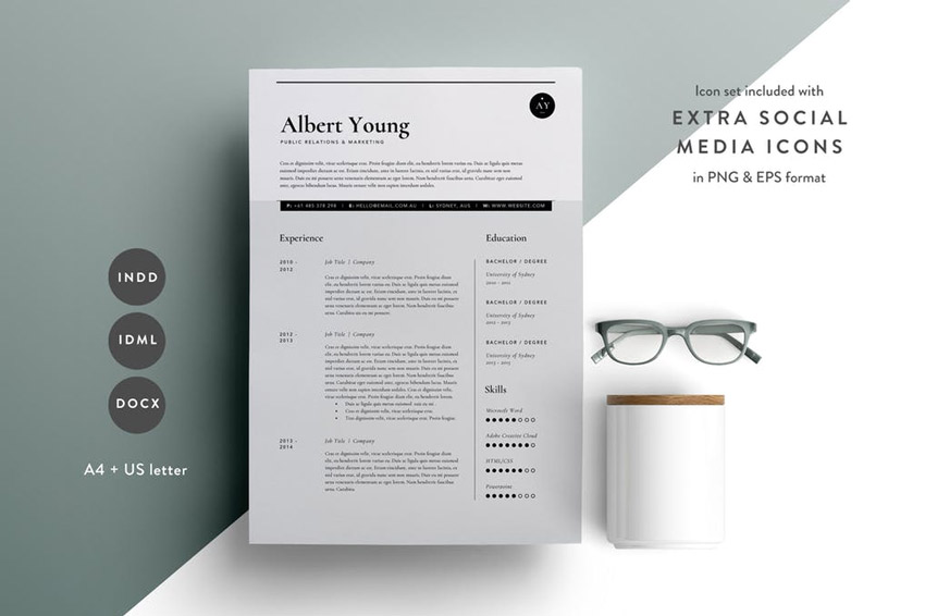 best design cv template