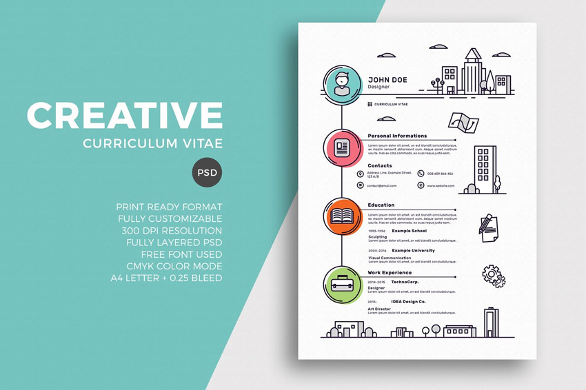 stylish cv template free download