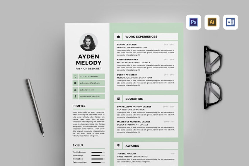Best of 2017 Stylish, Professional CV  Resume Templates - resume templates for designers
