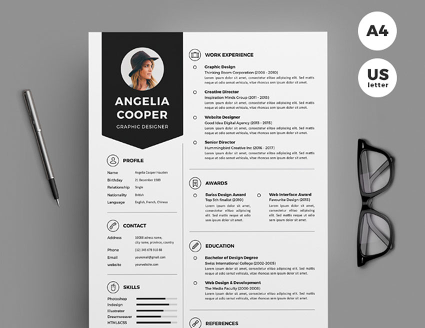 designed cv graphic designer