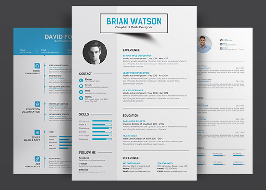 2017 professional resume templates