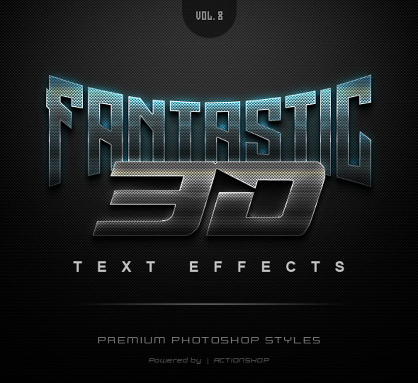 20 Cool Photoshop Text Effects, Actions  Styles for 2018