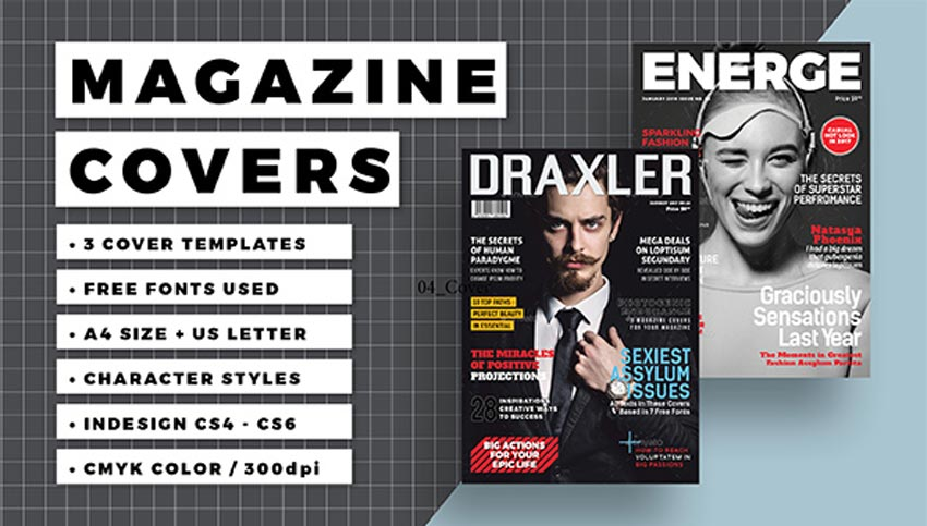 28 Best Magazine Cover Templates (InDesign  Photoshop PSD)
