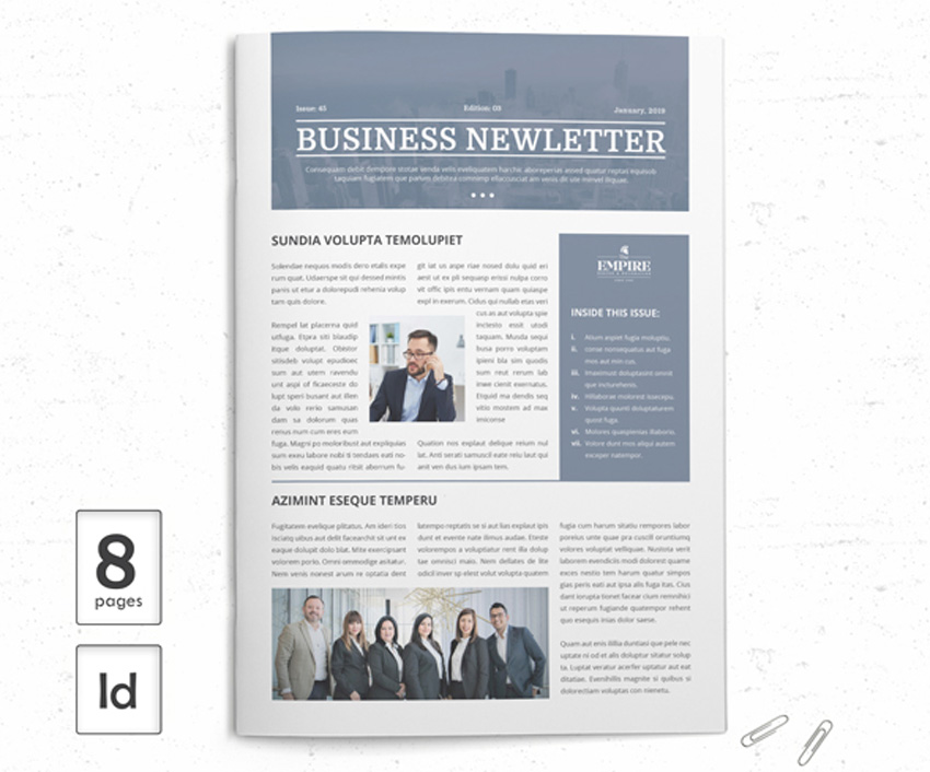 33 Best InDesign Newsletter Templates (New for 2019)