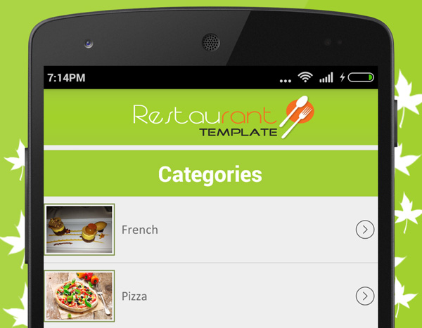 7 Android Templates to Inspire Your Next Project - restaurant table layout templates