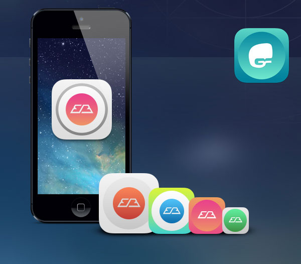 20 Useful iOS Icon  App Template Resources - iphone app icon template