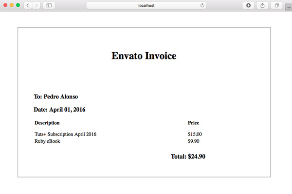 Generating PDFs From HTML With Rails - when invoice is generated