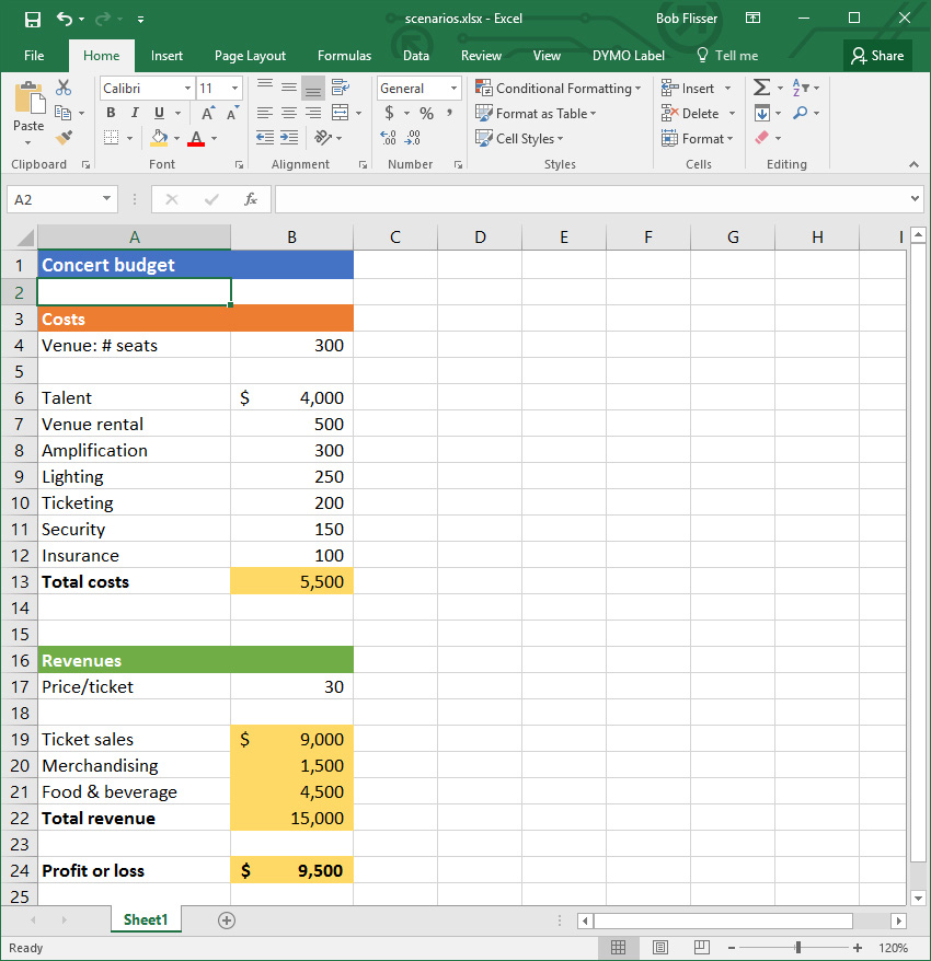 Excel What-If Analysis How to Use the Scenario Manager