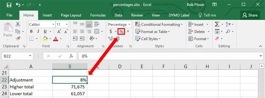 How to Calculate Percentages in Excel With Formulas - percentage in excel