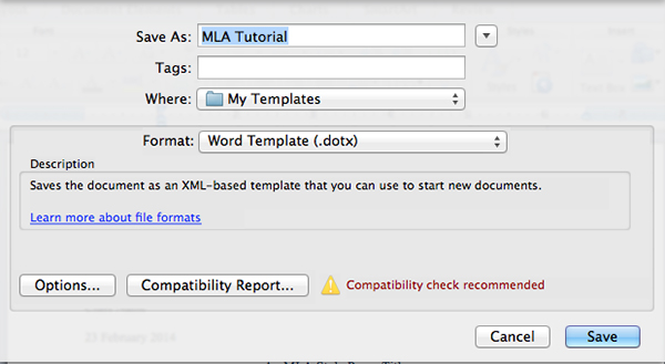 How To Create an MLA Template in Word and Pages - Mla Format For Word