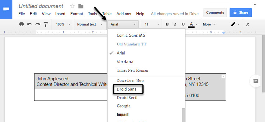 how to make a nice resume on google docs