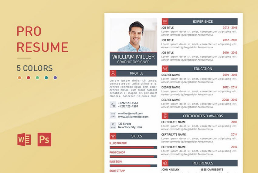 18 Professional Business Resume Templates for 2018 - resume template it professional