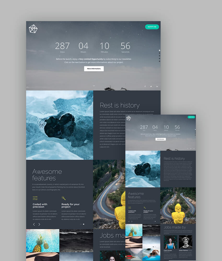 18 best responsive html5 landing page templates 2018 healthcare pure landing page template maxwellsz