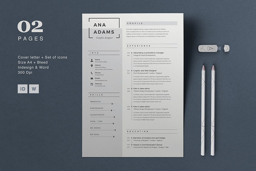 20 Modern Resume Templates With Clean (Elegant) CV Designs (2019)