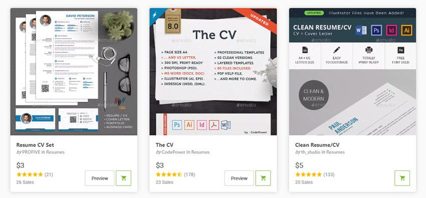 20 Modern Resume Templates With Clean (Elegant) CV Designs (2019)