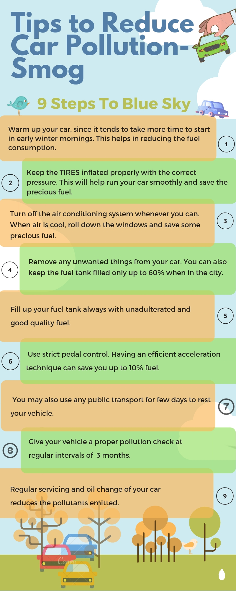 How To Reduse Pollution Tips To Reduce Car Pollution Level During Smog Season