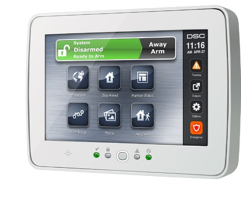 Security System TouchScreen Keypad PTK 5507 DSC PowerSeries