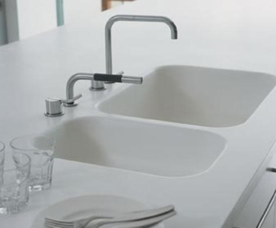 Doppel Waschbecken Aus Corian Corian® 873 Double Sink | Mcd Marketing | Esi Interior Design